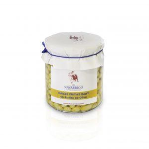 Habitas fritas baby en aceite de oliva