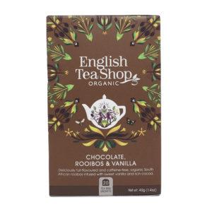 Té Rooibos bio con chocolate y vainilla English Tea Shop